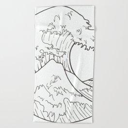 The wave of Kanagawa Beach Towel