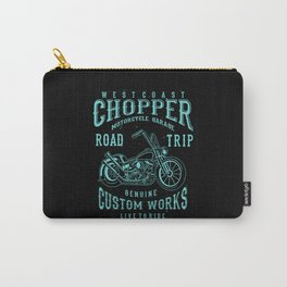 Retro Motorcycle Chopper Typography Carry-All Pouch