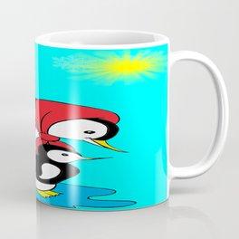 Penguins On A Sunny Day. Coffee Mug
