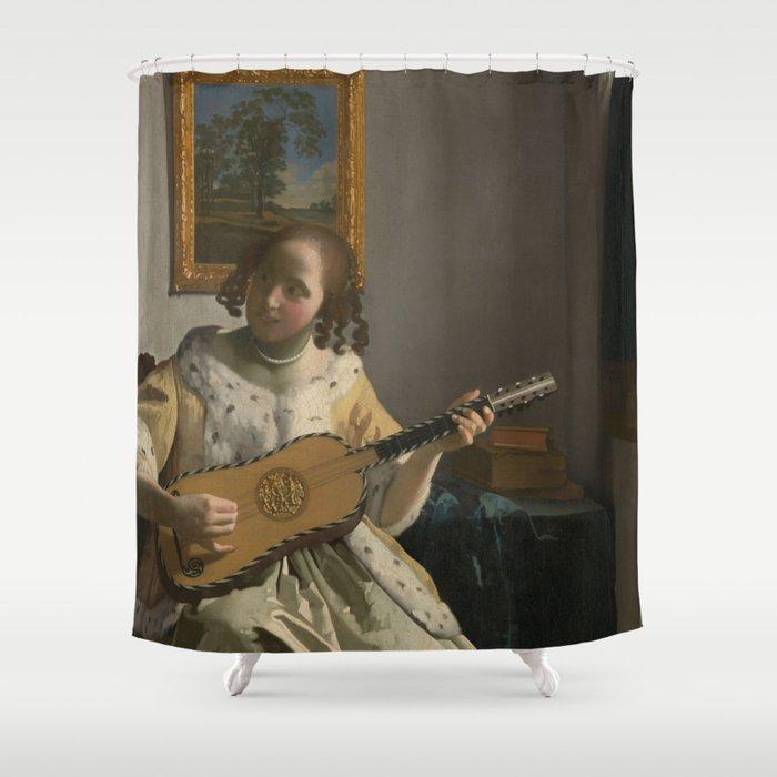 "Johannes Vermeer ""The Guitar Player"" Shower Curtain"