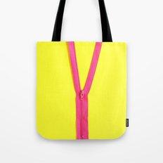 Pink Zipper Tote Bag