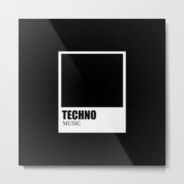 Techno music Metal Print