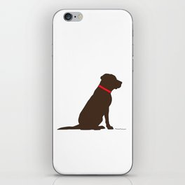 Modern Chocolate Lab Silhouette iPhone Skin
