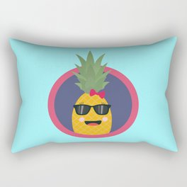 Cool pineapple with sunglasses Rectangular Pillow