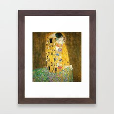 Gustav Klimt The Kiss Framed Art Print