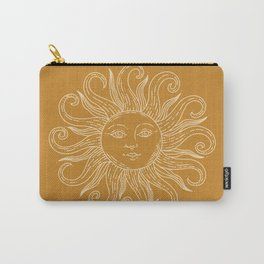 Boho Sun Drawing XX Gold Carry-All Pouch