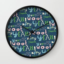 Yahoo Blue Wall Clock