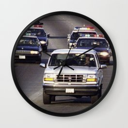 OJ Simpson Car Chase Wall Clock
