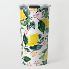 LEMONLY Leafy Lemons Travel Mug