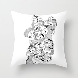 Without Her Throw Pillow