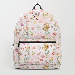Little girls on the farm Backpack