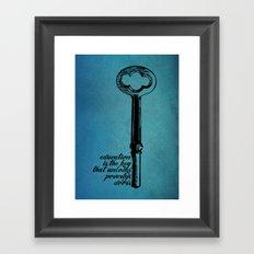 Education Key. Framed Art Print