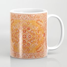 Orange Boho Oriental Vintage Traditional Moroccan Carpet style Design Coffee Mug