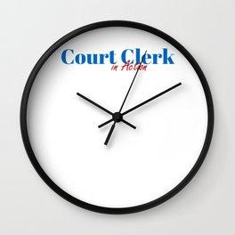 Happy Court Clerk Wall Clock