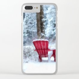 Winter Arrives on Anderson Pond Clear iPhone Case