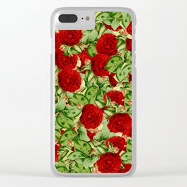 Painting the Roses Red Clear iPhone Case
