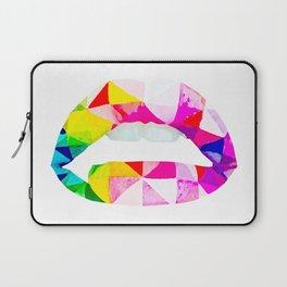 Labios geometricos Laptop Sleeve