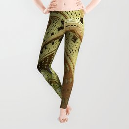 Industrial Steam Punk Cogwheels Leggings