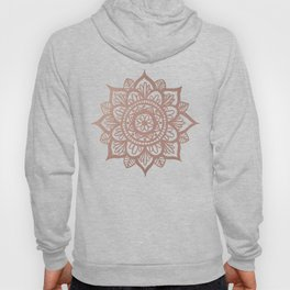 New Rose Gold Mandala Hoody