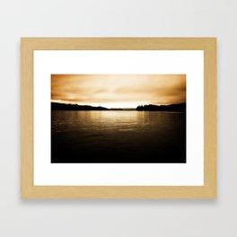 Umpqua River Sunrise Framed Art Print
