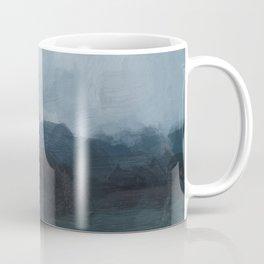 Gray Navy Blue Black Abstract Nature Ocean Painting Art Print Wall Decor  Coffee Mug