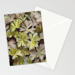 Leafy Abstract Stationery Cards