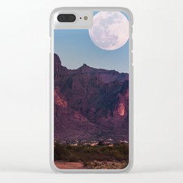 Super Blue Moon over Arizona #society6 #decor #buyart Clear iPhone Case
