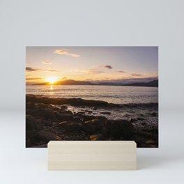 Summer Sunset Over Water Vancouver, British Columbia, Canada Mini Art Print