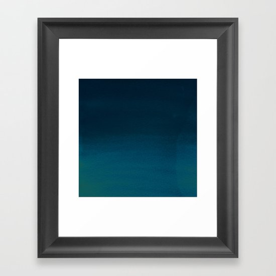 Navy blue teal hand painted watercolor paint ombre by pink_water