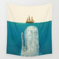tree Wall Tapestries featuring The Whale - colour option by Terry Fan