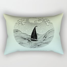 IN THE WAVES OF CHANGE WE FIND OUR TRUE DIRECTION (Blue) Rectangular Pillow