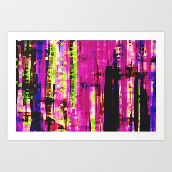 Abstract pink design Art Print