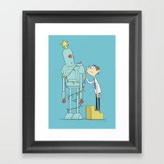 Robot Tree Framed Art Print