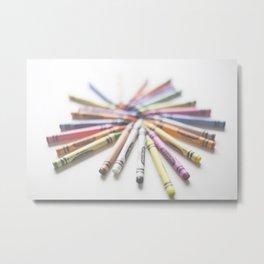 Crayon Love 2  Metal Print