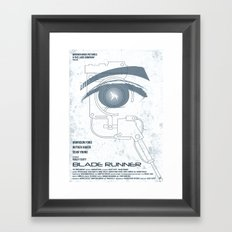 BLADE RUNNER (White - Voight Kampf Test Version) Framed Art Print