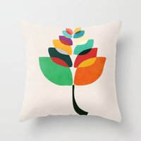 lotus flower Throw Pillows featuring Lotus flower by Picomodi