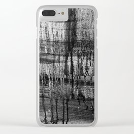 Grayscale Stains Clear iPhone Case