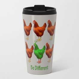 Funny Martian Chicken Be Different Motivational Art Travel Mug