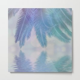 Blue Tropical Dreams Metal Print