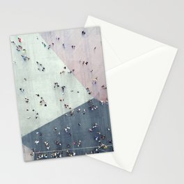 High angle view of people on street Stationery Cards