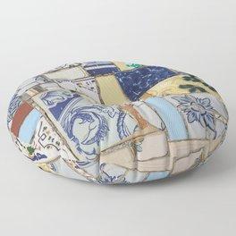 Broken ceramic tiles patchwork Floor Pillow