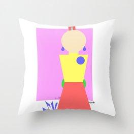 Sasha Velour Geometric Throw Pillow