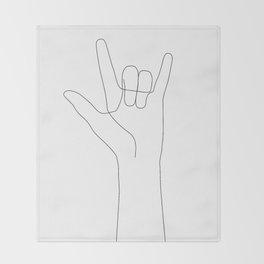 Love Hand Gesture Throw Blanket