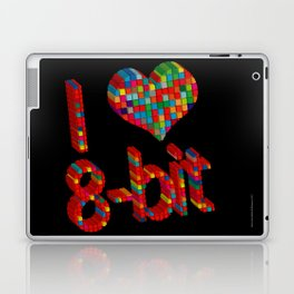 i heart 8-bit Laptop & iPad Skin