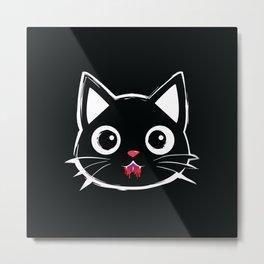 Cute Vampire Cat Metal Print