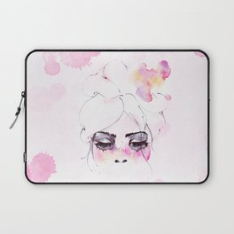 Speechless Girl - My pink sadness in watercolors Laptop Sleeve