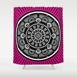 Modern Mandala (Pink) Shower Curtain