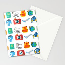 Travel Icons Stationery Cards