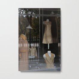 Paris, The Shop of Vintage Fashion, Palais-Royal.  Metal Print