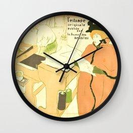 """Henri de Toulouse-Lautrec """"Couverture de l'estampe originale"""" Wall Clock"""